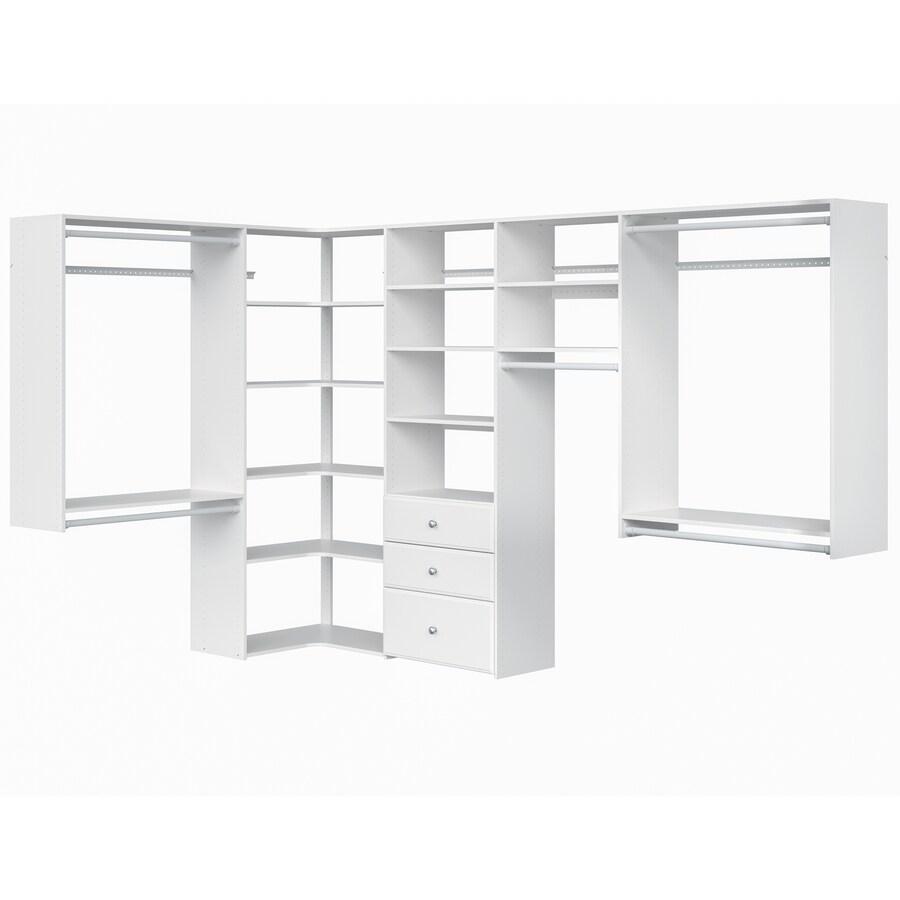 Easy Track 9.5 Ft W X 7 Ft H White Wood Closet Kit