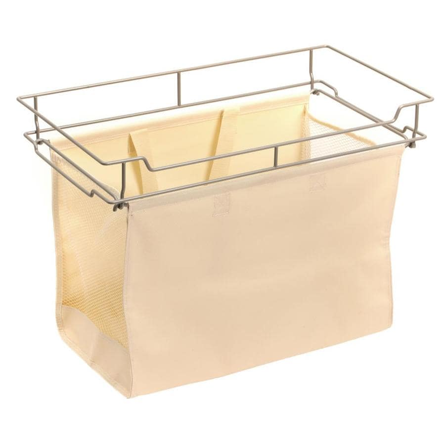 Easy Track 24 In X 15 In X 13 In Tan Canvas Hamper