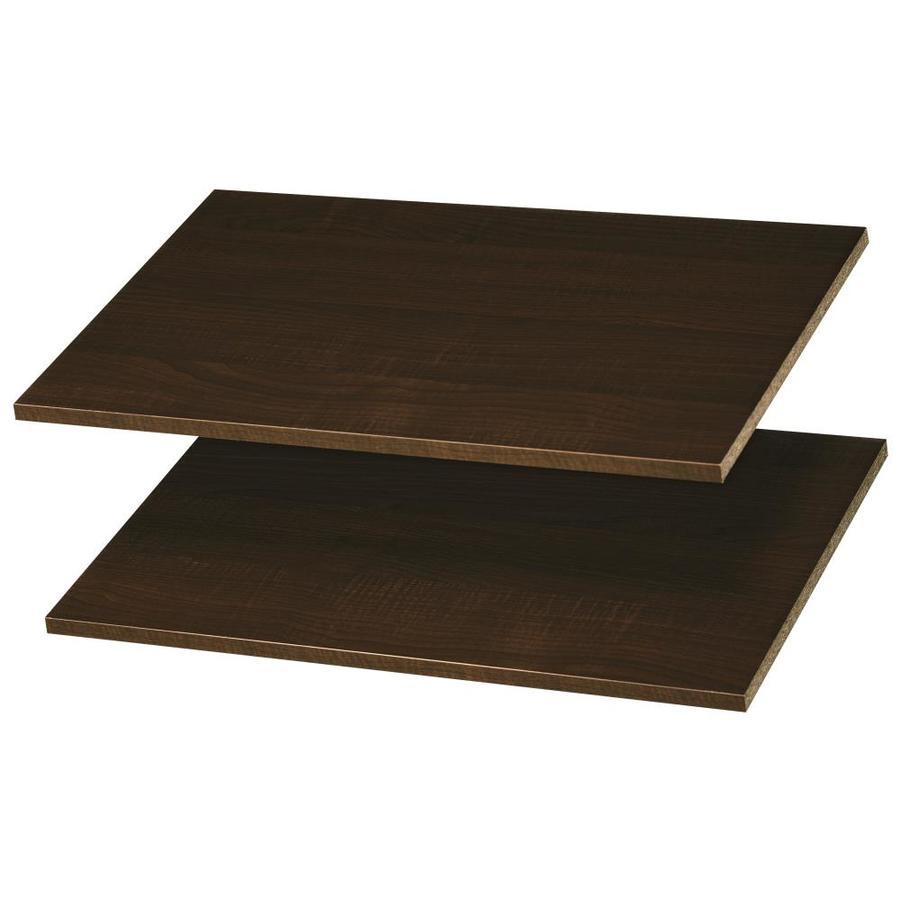 Easy Track 24-in W x 14-in D Truffle Wood Closet Shelf Kit
