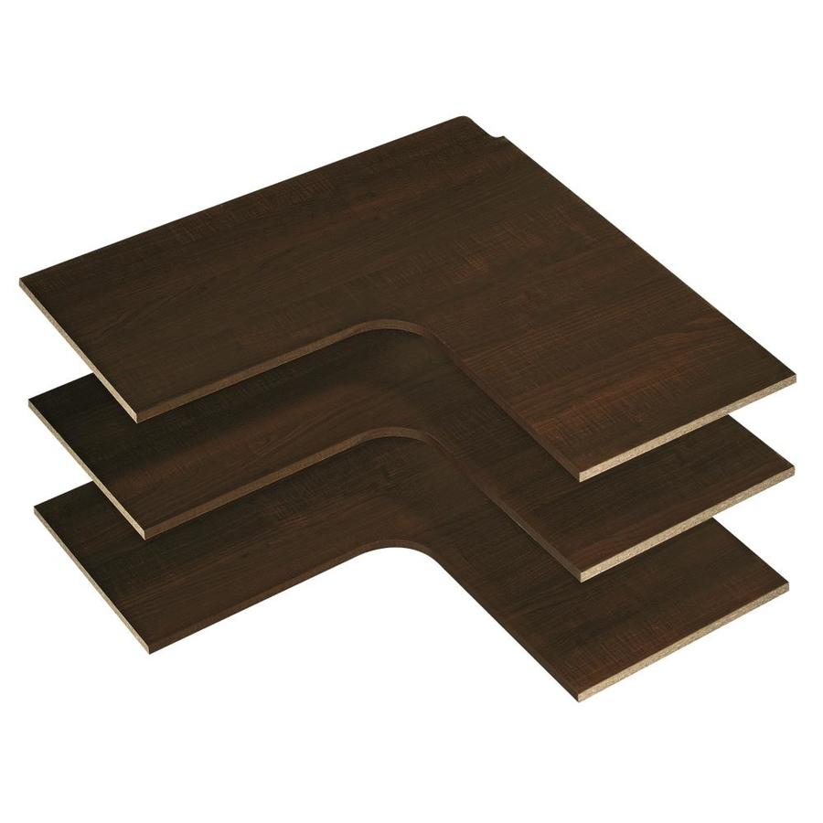 Easy Track 30-in W x 14-in D Truffle Wood Closet Shelf Kit
