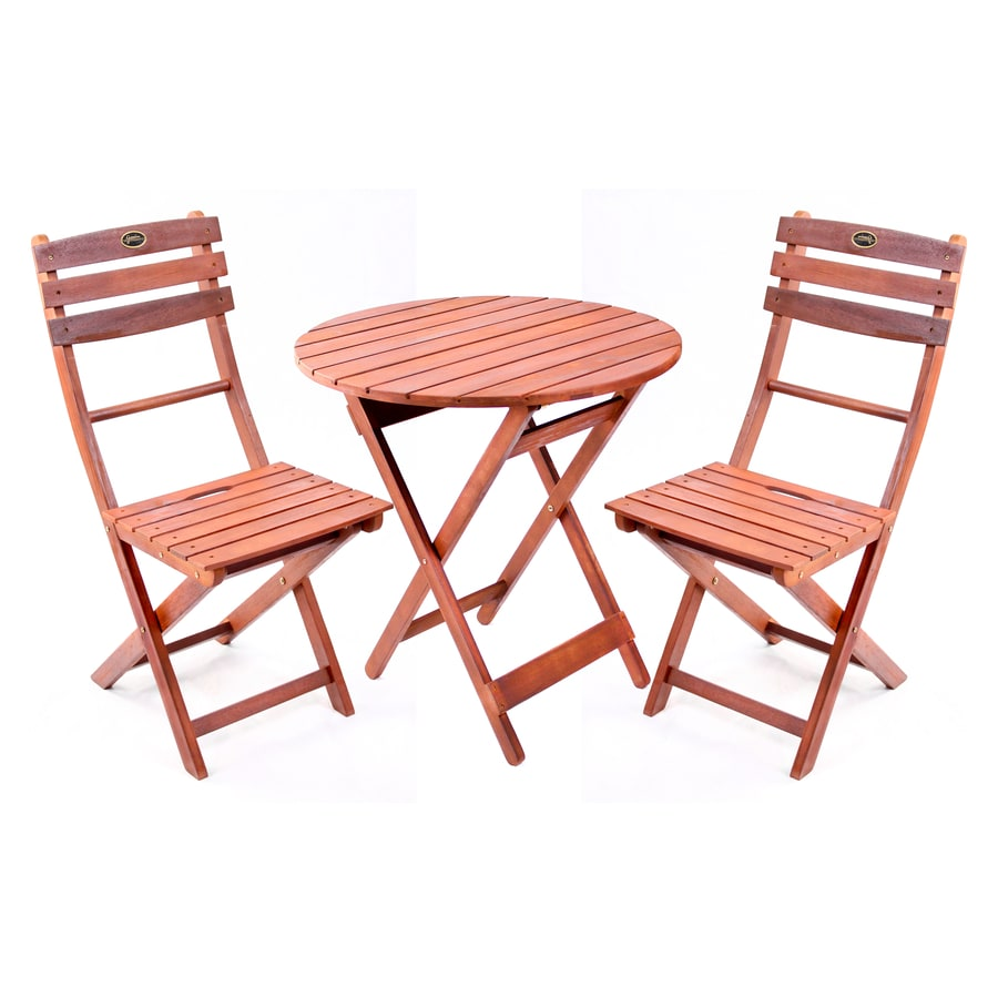 Shop wood patio dining set at for Patio furniture dining sets