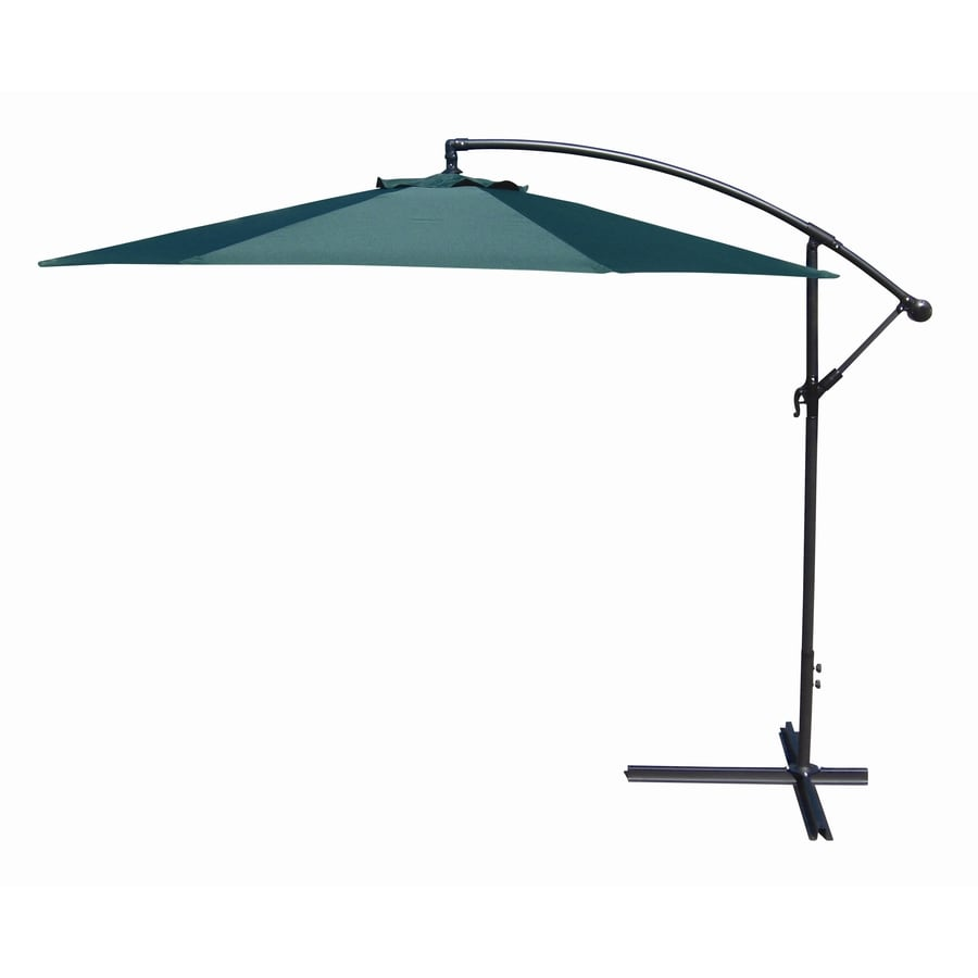 Shop patio umbrella common 120 in w x 120 in l actual for Best outdoor umbrellas reviews