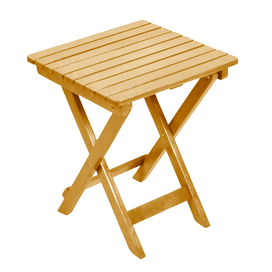 shop 16 in x 16 in natural wood square patio side table at. Black Bedroom Furniture Sets. Home Design Ideas