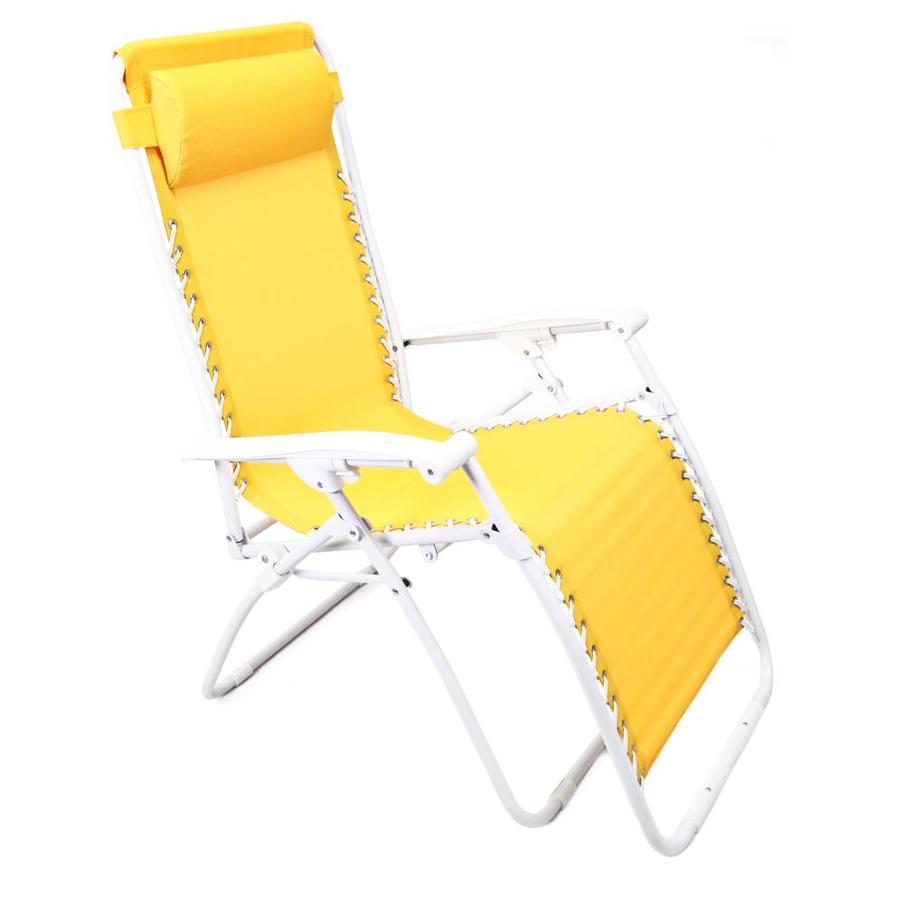 Jordan Manufacturing Steel Zero Gravity Chair With Yellow