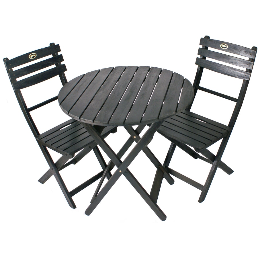 3 Piece Slat Seat Wood Patio Bistro Set At Lowescom