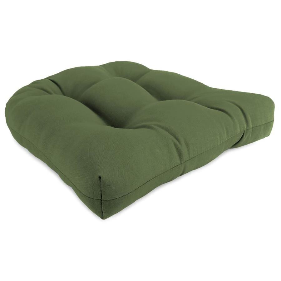 Sunbrella 1-Piece Canvas Fern Standard Patio Chair Cushion