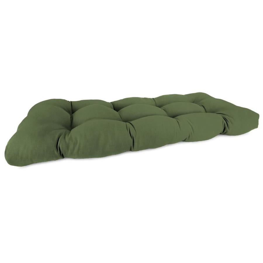 Sunbrella Canvas Fern Solid Patio Loveseat Cushion for Loveseat