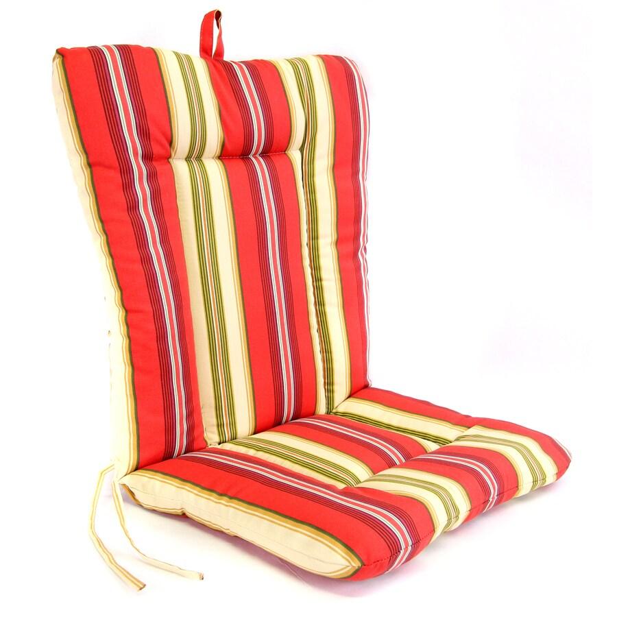Gamali Lipstick Stripe Standard Patio Chair Cushion