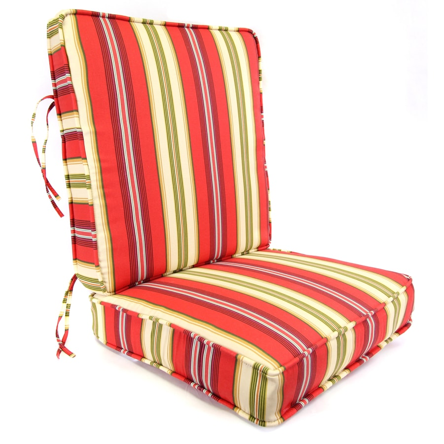 shop gamali lipstick stripe deep seat patio chair cushion for deep seat chair at. Black Bedroom Furniture Sets. Home Design Ideas