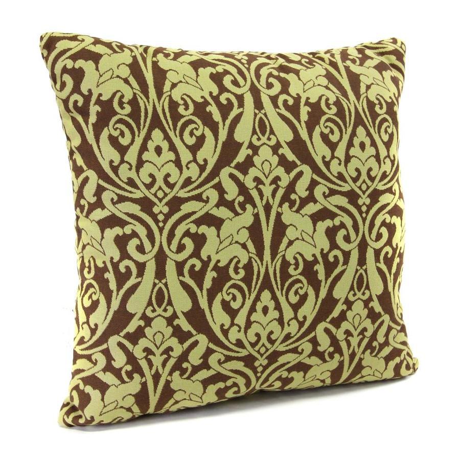 Moritz Bronze Floral Square Outdoor Decorative Pillow