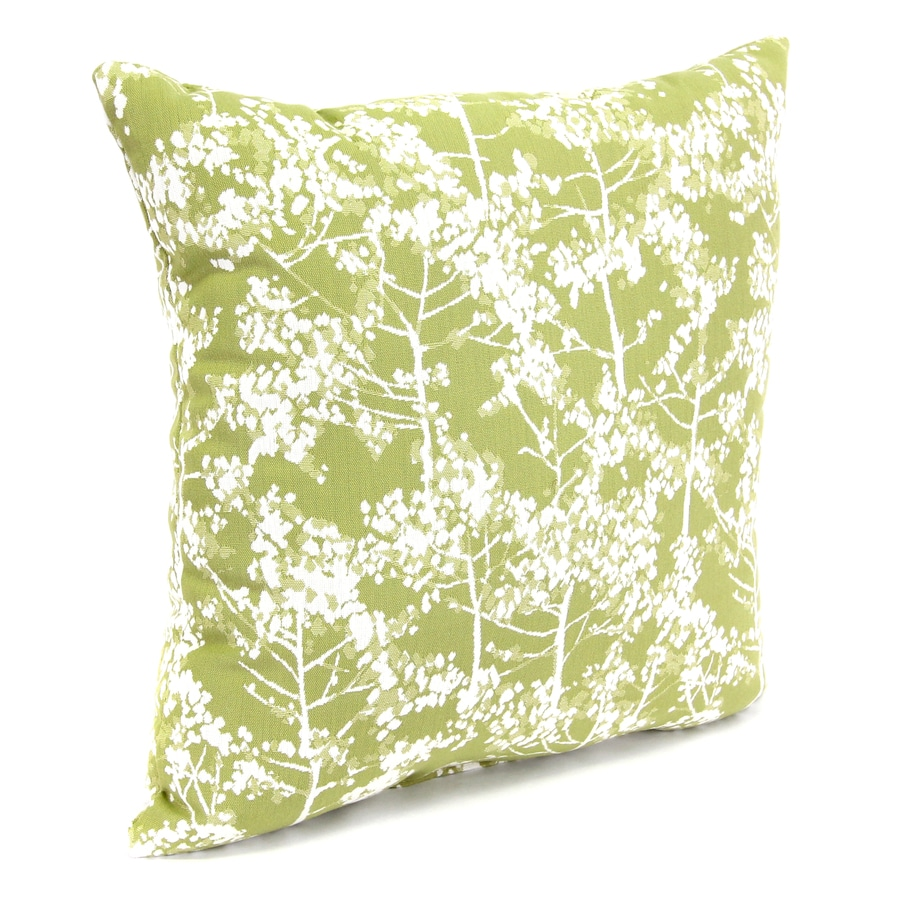 Mystique Aloe Floral Square Outdoor Decorative Pillow