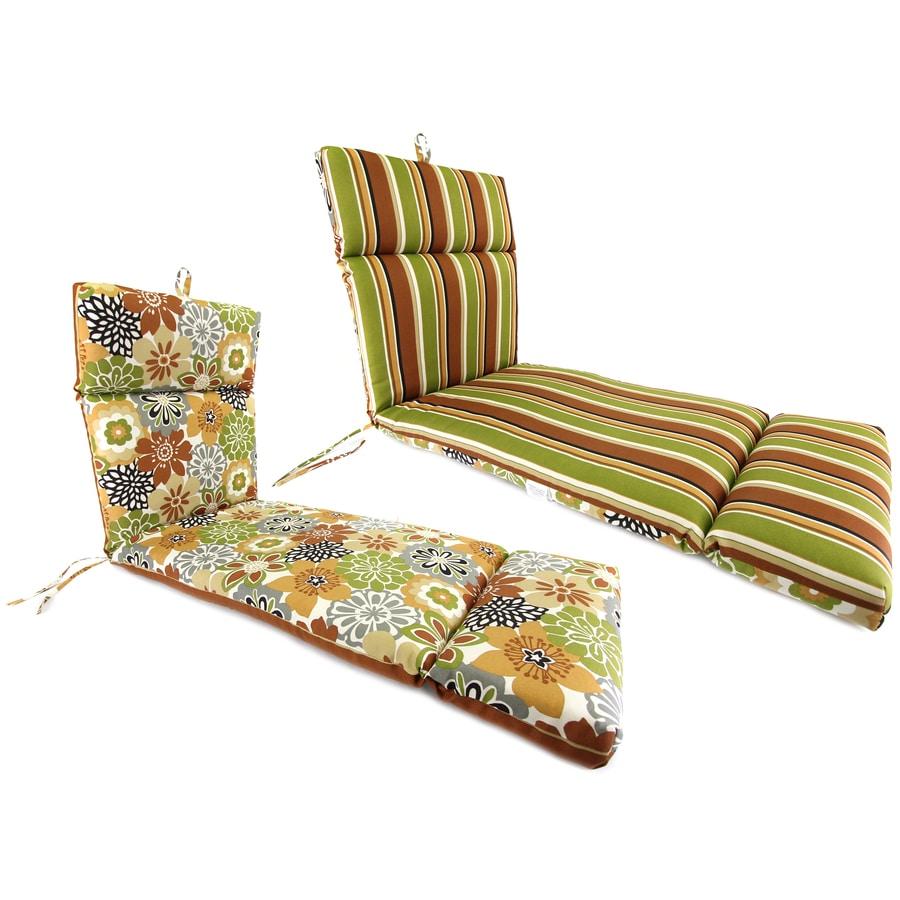 Jordan Manufacturing Floral Standard Patio Chair Cushion for Chaise Lounge
