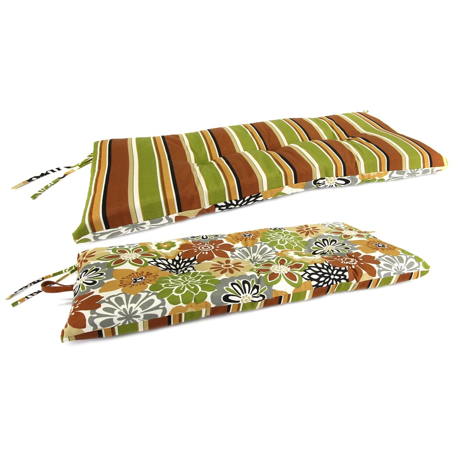 Jordan Manufacturing Camilla Martindale Stripe Maple Floral Cushion For Patio Bench