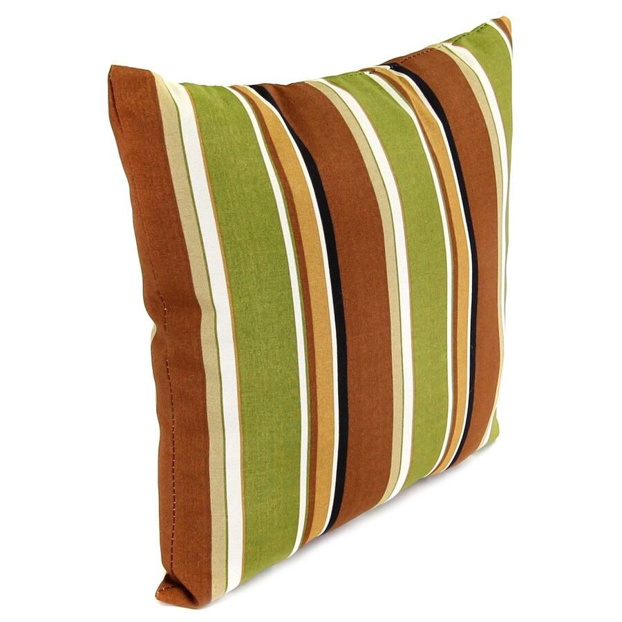 Jordan Manufacturing 16-in W x 16-in L Martindale Stripe Maple Indoor Decorative Pillow
