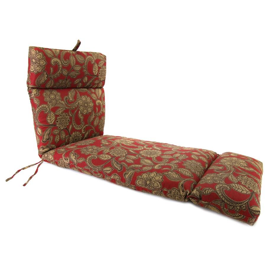 Jordan Manufacturing Veranda Crimson Paisley Standard Patio Chair Cushion for Chaise Lounge