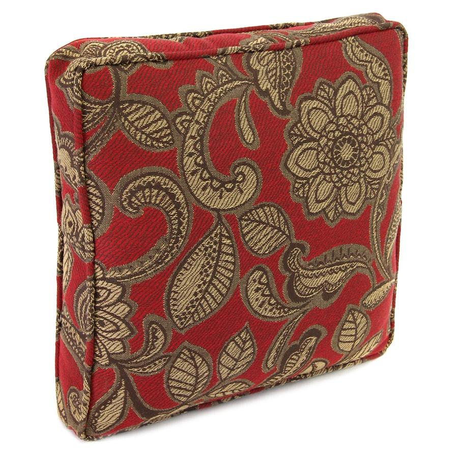 Jordan Manufacturing 14-in W x 14-in L Veranda Crimson Square Indoor Decorative Complete Pillow
