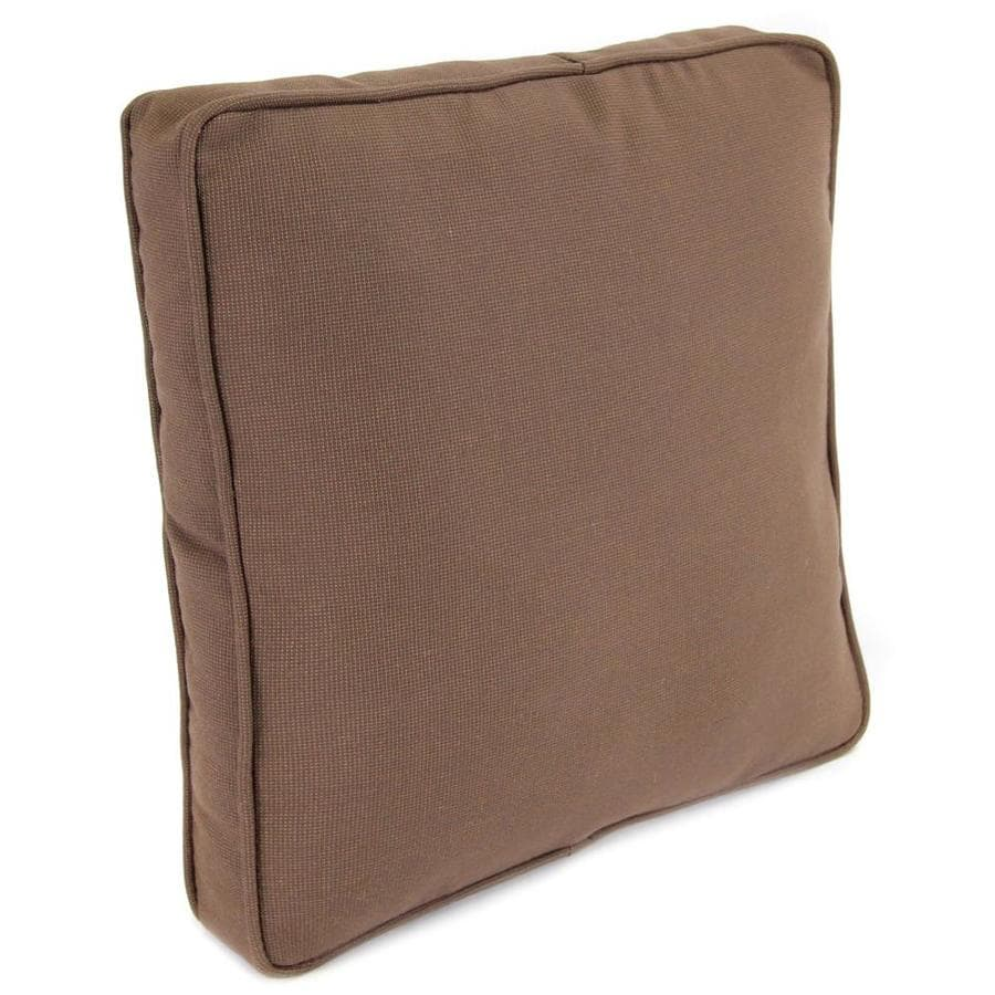 Jordan Manufacturing 14-in W x 14-in L Sparkel Coffee Square Indoor Decorative Complete Pillow