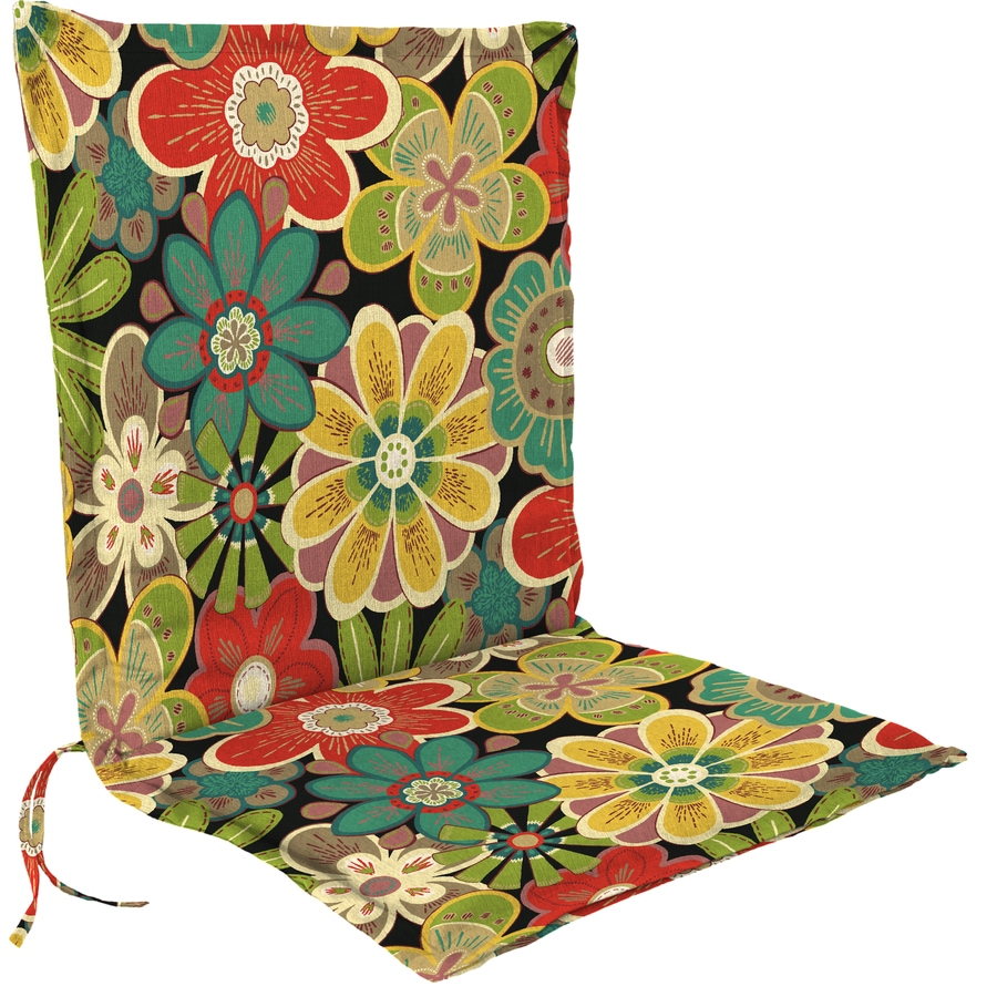 Jordan Manufacturing Glynis Black Forest Floral Cushion For Universal