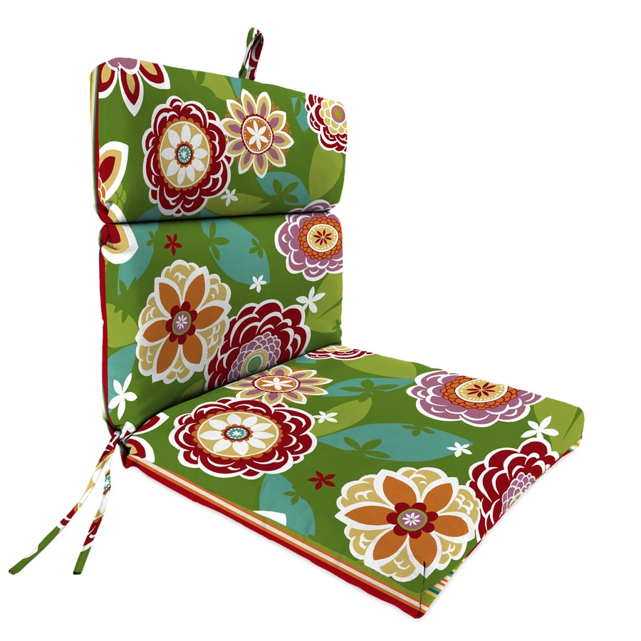 Jordan Manufacturing Kasmira Multi/Annie Garden Floral Standard Patio Chair Cushion