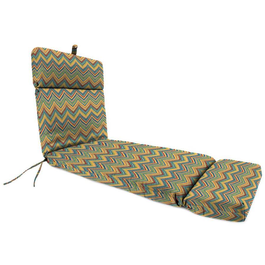 Jordan Manufacturing Rozelle Garden Stripe Standard Patio Chair Cushion for Chaise Lounge