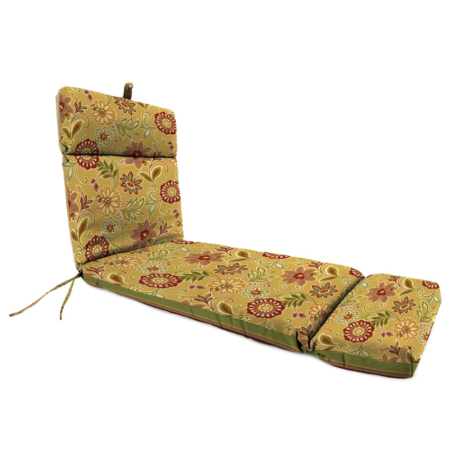 Jordan Manufacturing Westport Henna/Alinea Spice Floral Standard Patio Chair Cushion for Chaise Lounge
