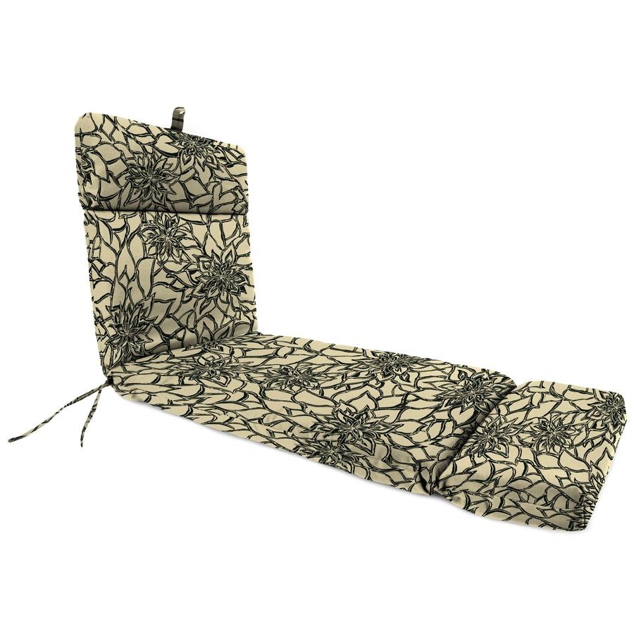 Jordan Manufacturing Maitlin Sand Floral Standard Patio Chair Cushion for Chaise Lounge