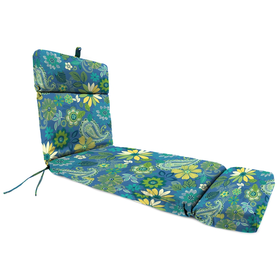 Jordan Manufacturing Gaya Caspian Floral Standard Patio Chair Cushion for Chaise Lounge