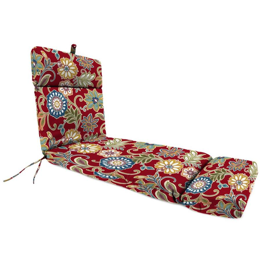 Jordan Manufacturing Alinea Pompei Floral Standard Patio Chair Cushion for Chaise Lounge