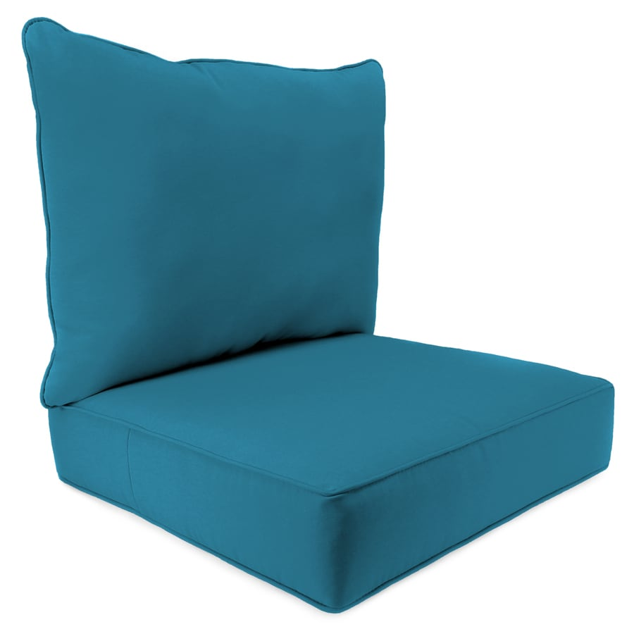 Shop jordan manufacturing fresco peacock solid deep seat for Chair pillow