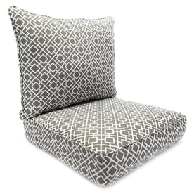 Jordan Manufacturing 2 Piece Poet Gray Deep Seat Patio Chair Cushion