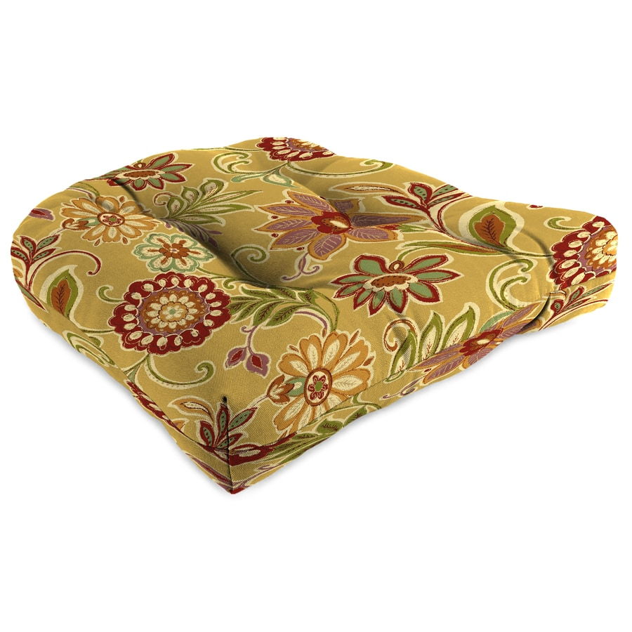 Jordan Manufacturing Alinea Spice Floral Standard Patio Chair Cushion