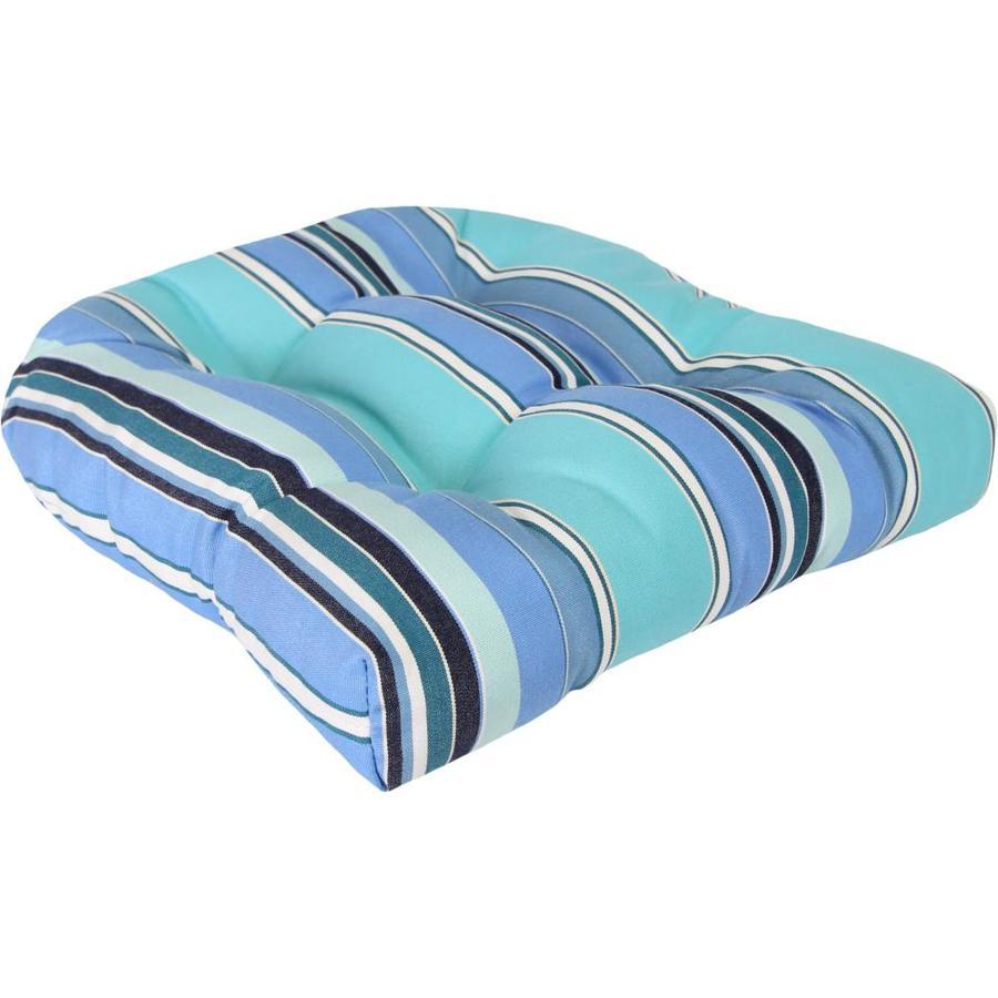 Sunbrella Dolce Oasis Stripe Standard Patio Chair Cushion