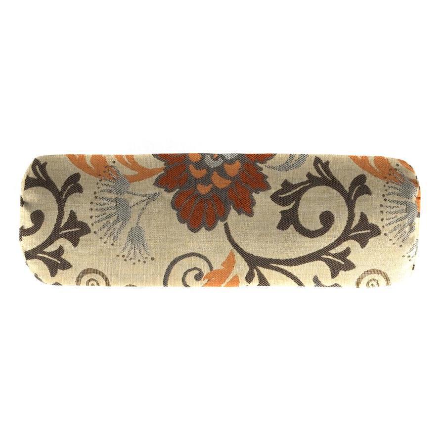 Sunbrella Elegance Marble and Floral Rectangular Bolster Pillow Outdoor Decorative Pillow