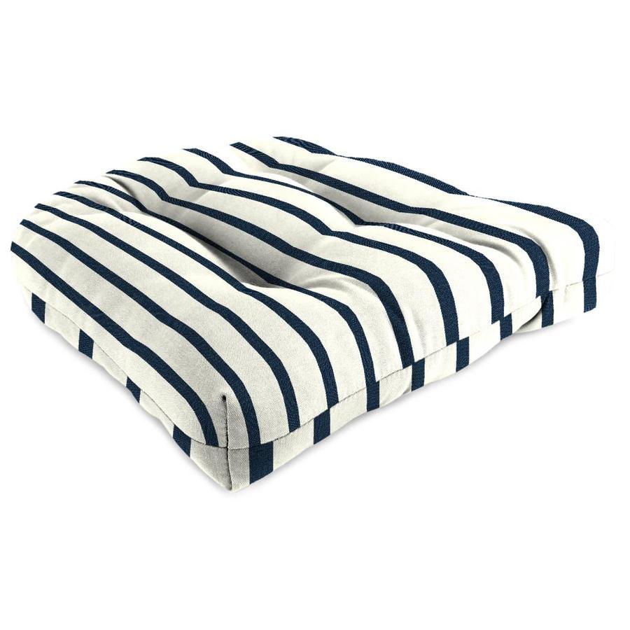 Sunbrella Lido Indigo Stripe Standard Patio Chair Cushion