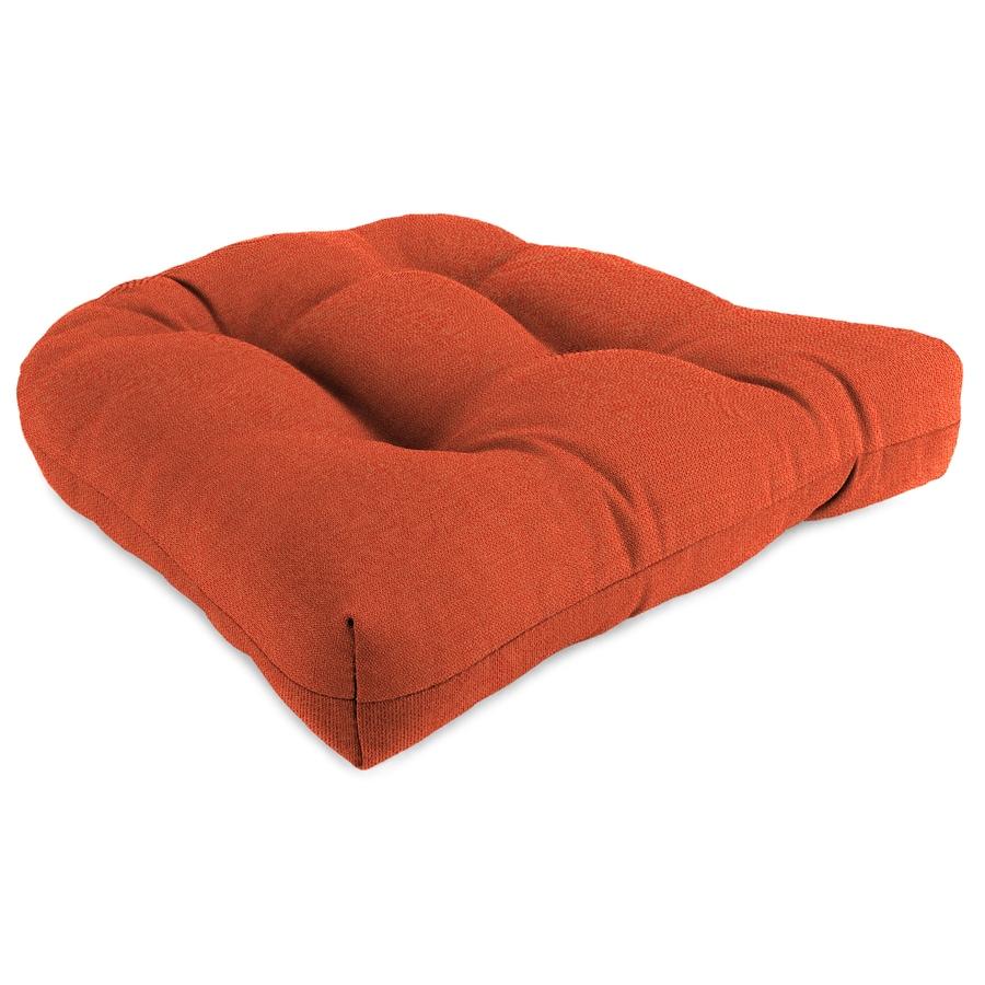 Sunbrella 1-Piece Echo Sangria Standard Patio Chair Cushion