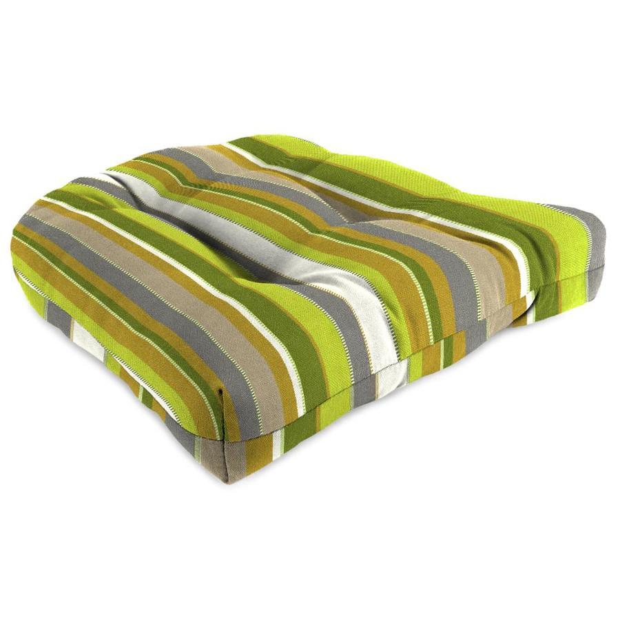 Sunbrella Carousel Limelite Stripe Standard Patio Chair Cushion