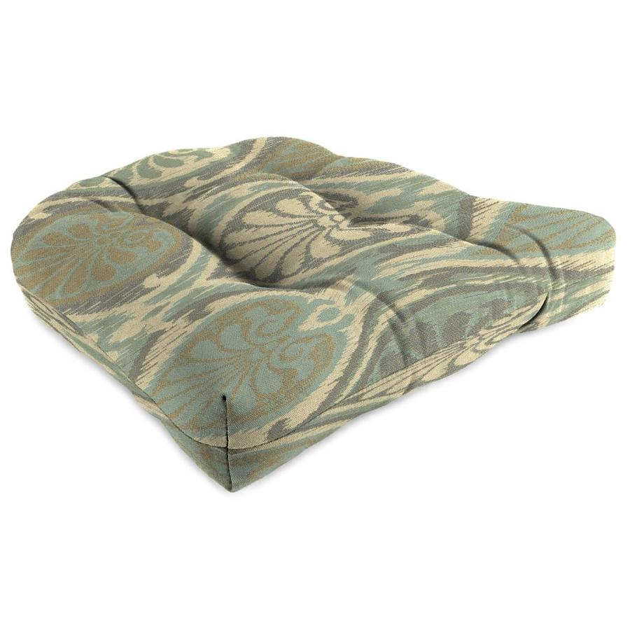 Sunbrella Aura Seaglass Geometric Standard Patio Chair Cushion