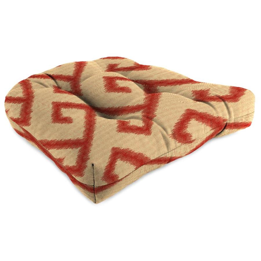 Sunbrella El Greco Chili Geometric Standard Patio Chair Cushion