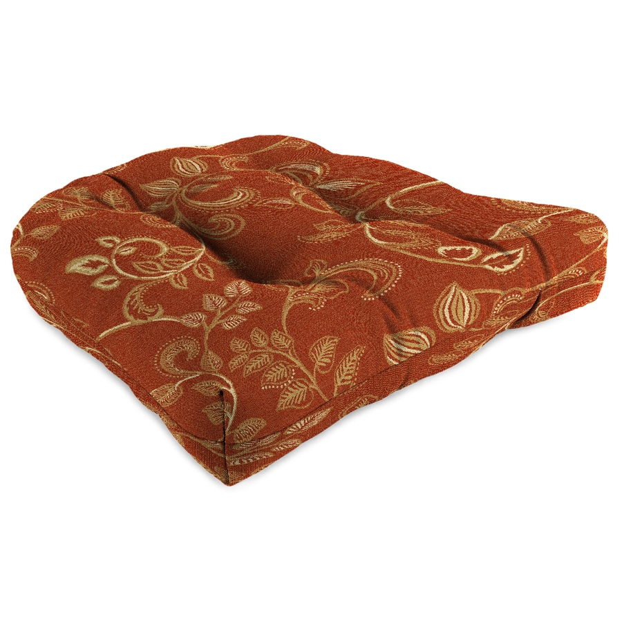 Sunbrella Eureka Henna Paisley Standard Patio Chair Cushion