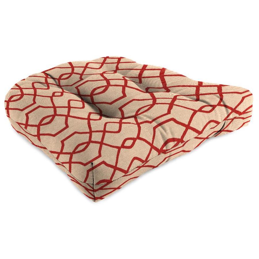 Sunbrella 1-Piece Folio Terracotta Standard Patio Chair Cushion