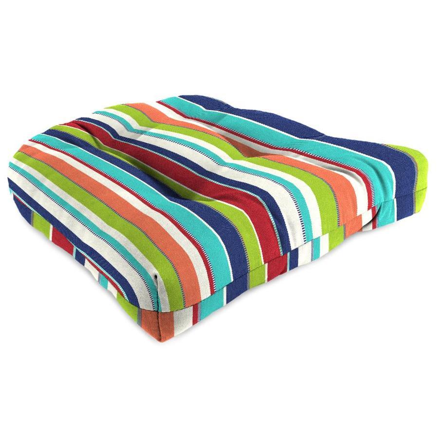 Sunbrella Carousel Confetti Stripe Standard Patio Chair Cushion
