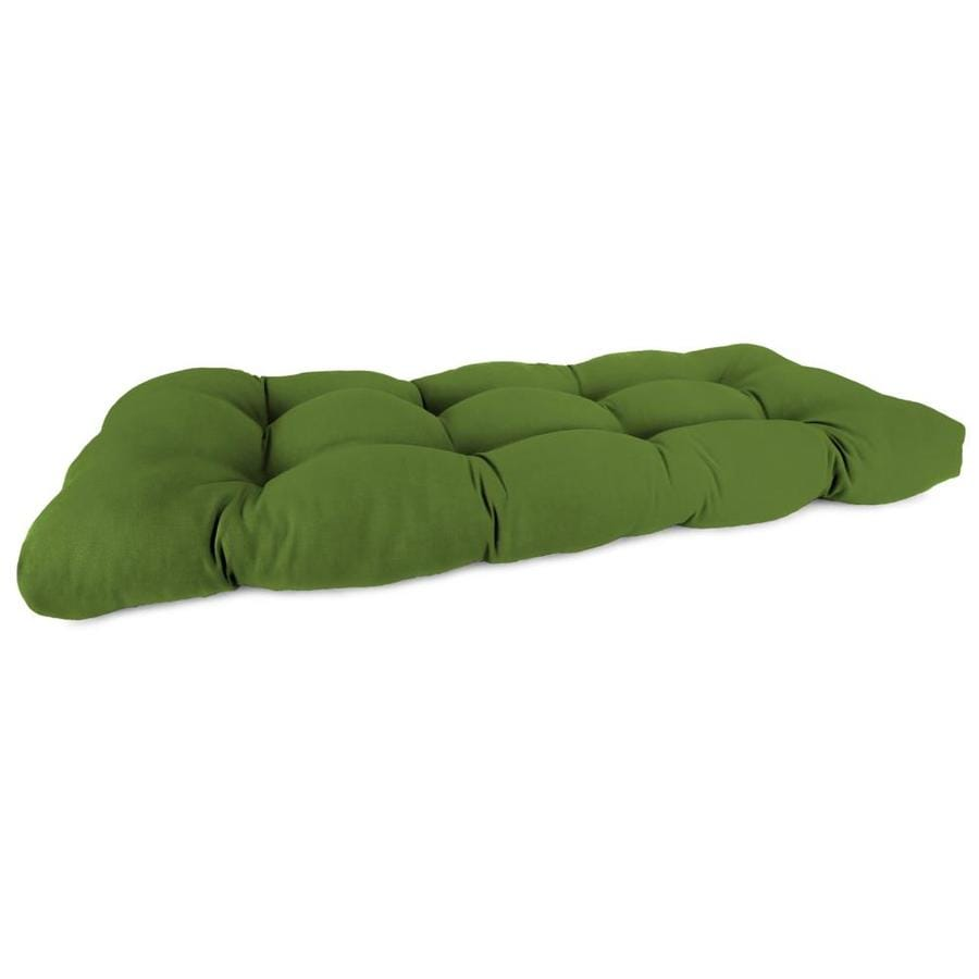 Sunbrella Spectrum Cilantro Solid Patio Loveseat Cushion For Loveseat