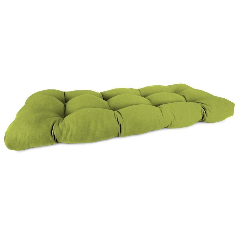 Sunbrella Spectrum Kiwi Solid Patio Loveseat Cushion for Loveseat