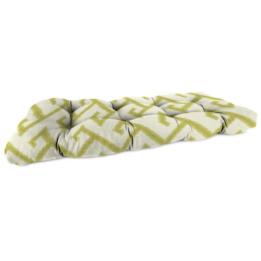 Sunbrella El Greco Avocado Geometric Cushion For Loveseat