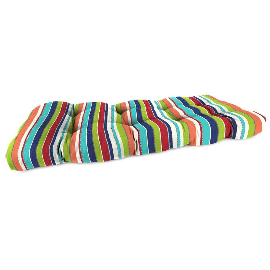 Sunbrella Carousel Confetti Stripe Patio Loveseat Cushion for Loveseat