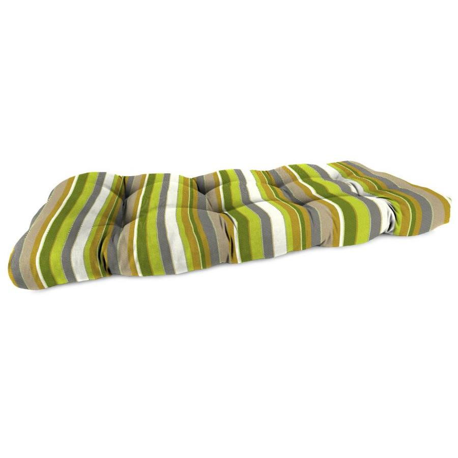 Sunbrella Carousel Limelite Stripe Patio Loveseat Cushion for Loveseat