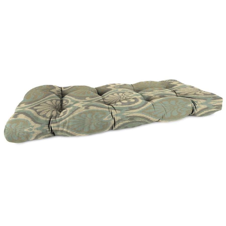 Sunbrella Aura Seaglass Geometric Patio Loveseat Cushion for Loveseat