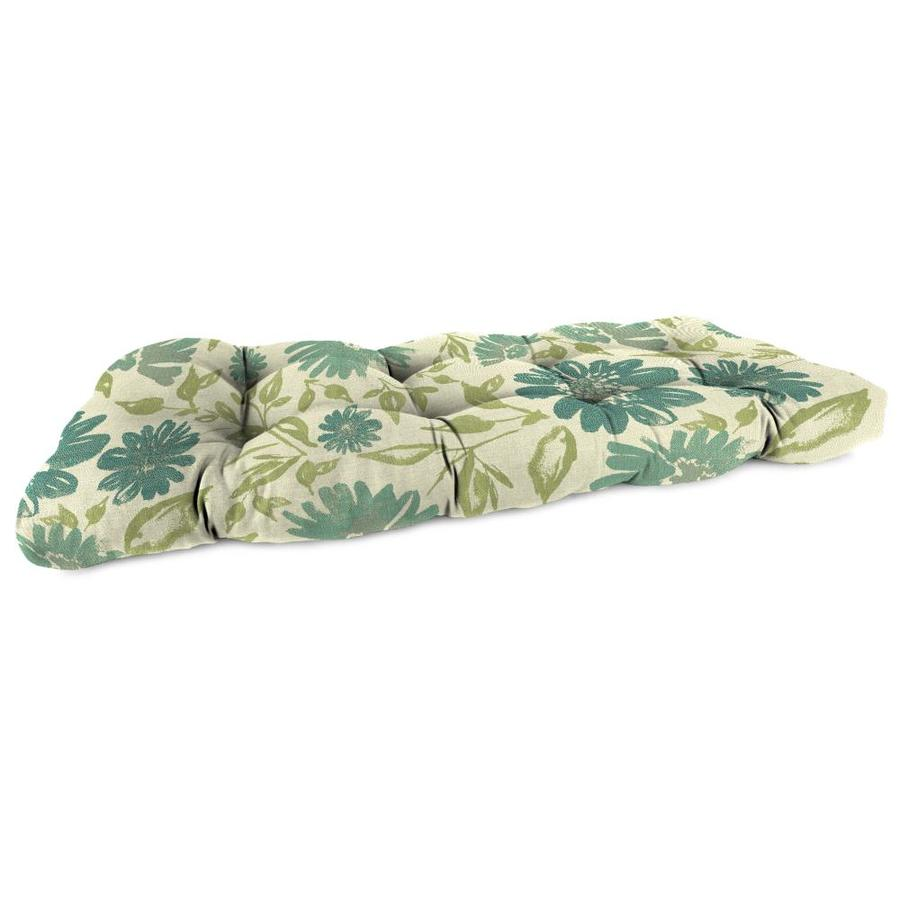 Shop Sunbrella Violetta Baltic Floral Patio Loveseat Cushion For Loveseat At