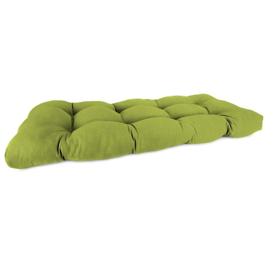 Sunbrella Spectrum Kiwi Solid Patio Loveseat Cushion for Loveseat