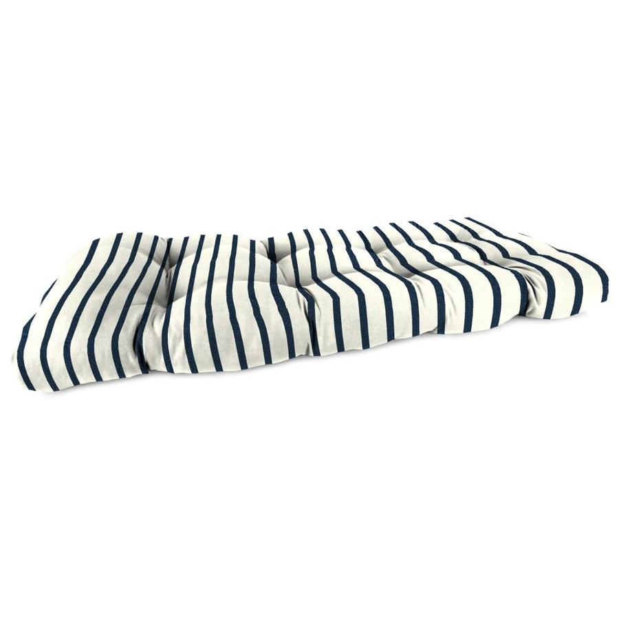Sunbrella Lido Indigo Stripe Cushion For Loveseat